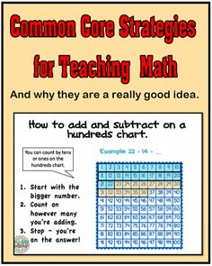 Common Core Strategies for Teaching Math...and why they are a good idea.  http://www.minds-in-bloom.com/2013/04/common-core-strategies-for-teaching.html