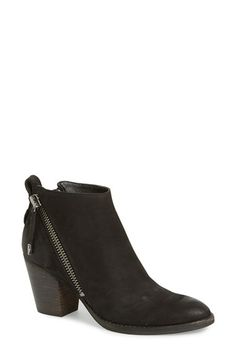 Free shipping and returns on Dolce Vita 'Jaeger' Bootie (Women) at Nordstrom.com. Asymmetrical side zips amp up the attitude of a streetwise stacked-heel bootie cut from soft nubuck leather.