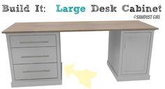 DIY Office Furniture Plans - large desk cabinet