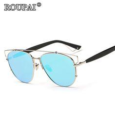 ROUPAI Brand Unisex Polarized Sunglasses 2017 High Quality TAC Coating Glasses Women Men Beach Sun Glasses Steampunk Shadow