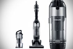 Samsung VU7000 Motion Sync Upright Vacuum has a detachable handheld for the 'last mile' in vacuum cleaning jobs.