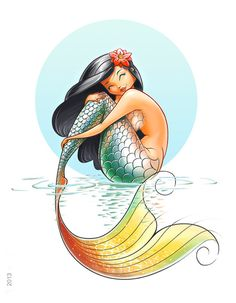 1.Fantasy -- Mermaid (Unrealistic) Though this is a cartoon picture, the visual of the scales is great.