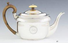 1802  English Georgian Sterling Silver Teapot