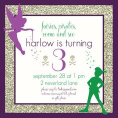 Fairy & Pirate/Neverland Birthday Invitation by CapitolConfetti, $15.00