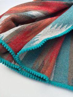 Baby Blanket/ Aztec Swaddle Blanket / Southwestern Stoller Blanket / Orange Blanket / Newborn Blanket / Hospital Blanket / Photo Prop