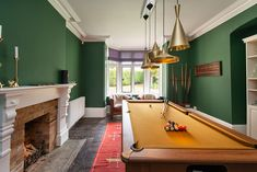 Games room with a pool table