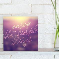 Quadro - Simple Things lilás - Decohouse