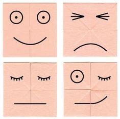 считает оригами из бумаги смайлы меняющие лицо пошагово в картинках тип
