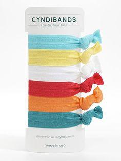 Cyndi Bands set of 6 hair ties Under the Sea