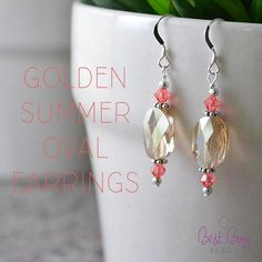 Soak up the summer sun in these gorgeous earrings! (2) 0801-2-ss Sterling Silver 2 inch Head Pins (Package of 6 Head Pins) (2) 0701-25-ss Sterling Silver .025