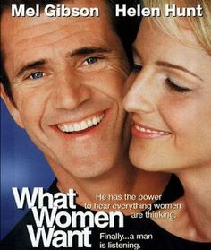 What Women Want, 2000 American romantic comedy film, directed by Nancy Meyers and starring Mel Gibson and Helen Hunt Comedy Movies, Hindi Movies, Film Movie, Telugu Movies, Wanted Movie, Love Movie, Mel Gibson, Helen Hunt, Bon Film