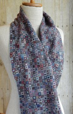 """Carres Liliput"" large scarf   OPFBA  by Sophie Digard"