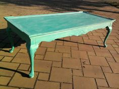 Green Chalk Paint Coffee Table 100