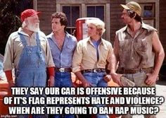 rap music is offensive to me...when will someone ban it? and bring back belted pants-please