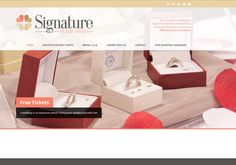 Gold Badge for Signature Bridal Shows website!!! See details on http://www.hqcertificate.com/website/signature-bridal-shows