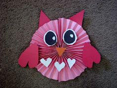 Owl made out of construction paper Buddies? Classroom Art Projects, School Art Projects, Art Classroom, Art For Kids, Crafts For Kids, Arts And Crafts, Owl Crafts, Paper Crafts, Valentine Day Crafts