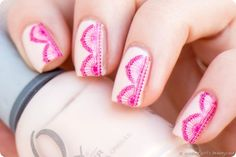 Ready Set Pooolish Lace Spitze Water Decals Orly Pink Kiss the bride nailart design nail art