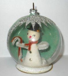 Vintage Christmas Snow globe ornament.