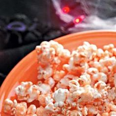 Goblin's Orange Popcorn Recipe - Silly name and ignore that it's orange...this is an amazing popcorn recipe!!  Buttery, sweet, salty...it is SO GOOD.  I make it as gifts and get tons of compliments.  TRY IT!
