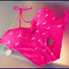 Pink, Hollister bikini.