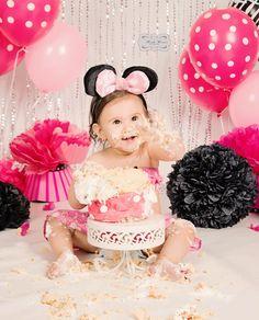 Cake Smash Minnie Mouse Theme