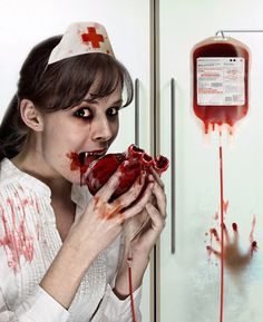 Only nurse can do that respect them. tag with your nurse friend. Nurse Halloween Costume, Up Halloween, Halloween Makeup, Crazy Nurse, Zombie Nurse, Zombie Monster, Vampire Costumes, Dark And Twisted, Creatures Of The Night