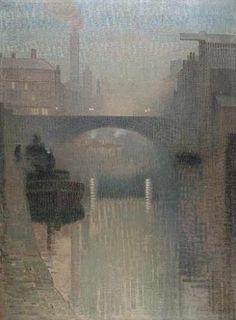 Pierre Adolphe Valette (French 1876–1942) [Impressionism] Bailey Bridge, Manchester, 1912.