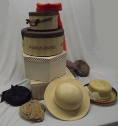 Neiman Marcus Hat Boxes and Vintage Hats