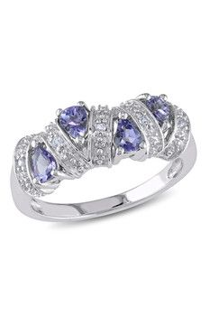 Sparkling Sterling Silver Tanzanite Station Ring  Sponsored by Nordstrom Rack.