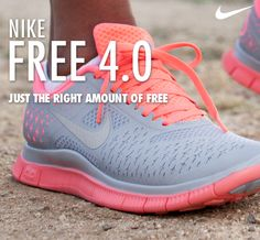 NIKE FREE 4.0  Just the right amount of Free. @Nike Running