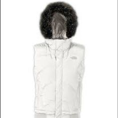 Host PickNorth Face hooded down vest The North Face hooded down vest with removable faux fur. Like new! 600 fill down and water repellent finish. Hidden zip closure with Velcro flap over the main zipper. Inner iPod music pocket and headphone opening. Slimming fit. Pull adjustable hood. Very warm for the pro skier who likes to look stylish. North Face Jackets & Coats