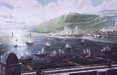Andúnië was an important city and port in the realm of Númenor, located on the Bay of Andúnië in the Andustar region, on the western end of the island. Though not the capital, it was initially the largest city of Númenor because the Elves of Tol Eressëa would often visit the haven. The city was home to the Lords of Andúnië descended by Valandil, the highest nobles of Númenórë, who were leaders of the Elendili (also known as The Faithful).