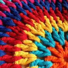 kerryjane79's #crochet colorful cushion