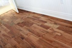 Tung oiled oak floors, stained with Minwax Nutmeg. Could our oak floors look like this? Diy Flooring, Flooring Options, Wood Floor Colors, White Oak Floors, Hallway Carpet Runners, Floor Finishes, Living Room Carpet, Carpet Design, Fixer Upper