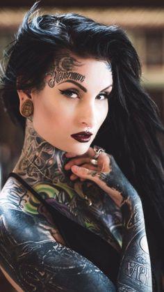 """💜Hot n'Awesome Inked Fraulein … Miss Lusy Logan🔥 💀☠ Belles Femmes Tatouee's ☠💀 "" Hot Tattoos, Girl Tattoos, Tattoos For Women, Dark Tattoo, I Tattoo, Logan Tattoo, Tattoed Women, Pin Up, Hot Tattoo Girls"