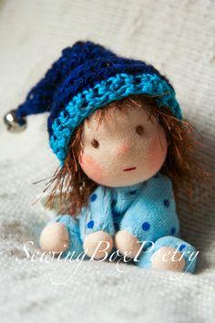 Waldorf doll Tiny Baby Boy Waldorf inspired by SewingBoxPoetry
