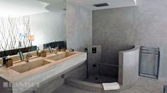 Concrete bathroom, polished concrete, Ibiza, danisol builders, luxury villas, exclusive, ibiza concrete experts, decoration, interiors, real estate, deluxe, dream homes www.danisol.es