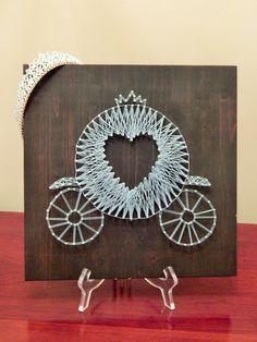 Carriage String Art 12x12 por StrungBySteel en Etsy                                                                                                                                                                                 Más