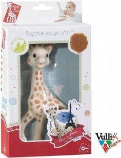 """Żyrafa Sophie pudełko """"fresh touch"""" Sophie to naprawdę wyjątkowa zabawka dla Niemowląt, jeśli jeszcze się o tym nie przekonałeś, to zwróć uwagę jak żyrafka stymuluje prawie wszystkie zmysły Twojego Dziecka.   Gdy Maluch rośnie, dostrzega jedynie kontrastowe elementy. Ciepłe, a jednocześnie zdecydowane barwy Sophie, przyciągają uwagę Niemowlęcia i żyrafka szybko staje się rozpoznawanym przez niego, przyjaznym obiektem. W ten sposób Sophie pobudza zmysł wzroku Twojego Szkraba."""
