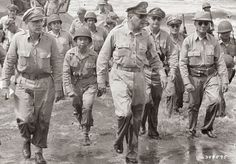 General Douglas MacArthur makes good his vow to return to the island of Baatan - World War II
