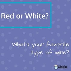 Red or white? What's your favorite type of wine?