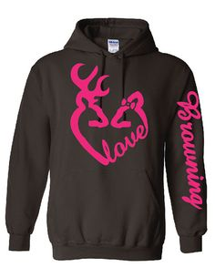Love Logo with bow, Fluorescent Pink, Browning Down Sleeve on Etsy, $45.62 CAD