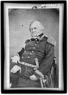 Winfield Scott, hero of the Mexican War, was in charge of security at Lincoln's 1st inauguration, 1981.