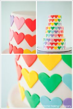 I love rainbows cake!  I desperately want to serve this for something.  So cute!