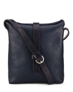 Crafted in a family-run factory in Portugal, this soft leather shoulder bag is the perfect addition to any casual look. It features a strong bridle leather adjustable strap and a supple leather that will age beautifully over time. A signature feature of this bag is the contrast leather tab closure and the interior pockets are ideal for keeping belongings secure.