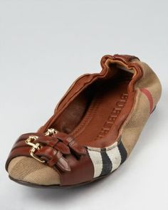 Burberry Ballerina Flats - Bridle Housecheck Falcony  Bloomingdale's