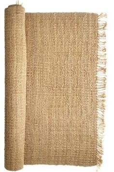 This raw edge loose weave Washed Jute Rug by Calypso St. Barth Home is the perfect accent for your beach house! http://calypsohome.vedere.com/products/99#