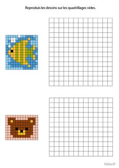 Pixel Art Photo, Image Pixel Art, Animal Crafts For Kids, Art For Kids, Loom Beading, Beading Patterns, Colouring Pages, Coloring Books, Grille Pixel Art