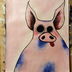 Pigo 🐷🐷🐷 #painting #nightart #art #paint #painted #acryl #acrylic #pink #pig #fun #funart #f4f #artist #fantasy #imagination #fun #painting #arts_help #arts