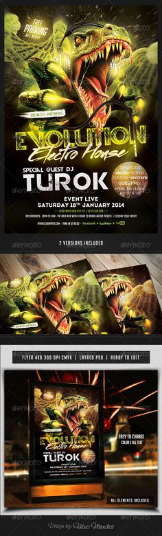 Evolution Electro House Flyer Templete